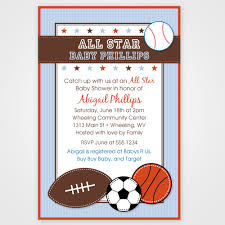 sports themed baby shower invitations u2013 frenchkitten net