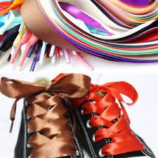 ribbon shoelaces colors flat silk ribbon shoelaces shoe laces sneaker party sport