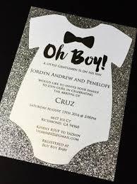 boy baby shower invitations glitter onesie baby shower invitations boy baby shower invite