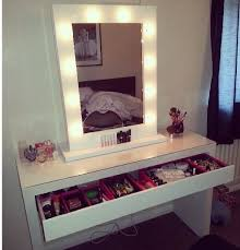 Contemporary Bedroom Vanity White Vanity Table With Lighted Mirror Moncler Factory Outlets Com