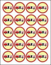 printable fire truck cupcake toppers birthday printables