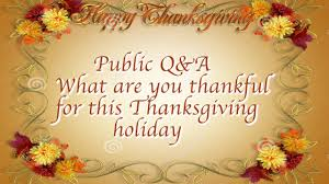 what are you thankful for this thanksgiving