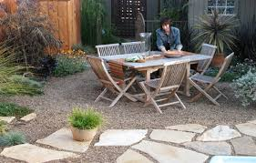 Mediterranean Patio Design Gravel And Flagstone Paver Mediterranean Patio Designs Brick