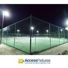 2 court led park twin tennis lighting 9 pole 12 fixture 407w led