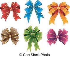 satin brown ribbons gift bows set of brown satin bows vector