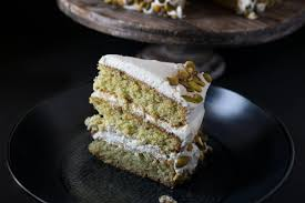 pistachio layer cake with orange cream frosting culinary ginger