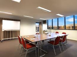 conference table with recessed monitors calm conference room with white accents color combined rectangle