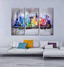 modern living room art amazon com artland modern 100 hand painted framed wall art