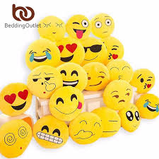 beddingoutlet cute emoji cushion home smiley face pillow stuffed