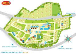 Dordogne France Map by Camping Payrac Les Pins Yelloh Village In Payrac
