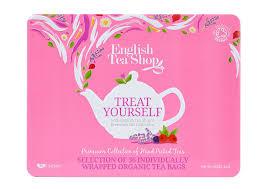 tea shop premium collection pink tin