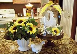 Kitchen Island Decorations Kitchen Design The Lovely Sunflower Decorations For The Pleasing