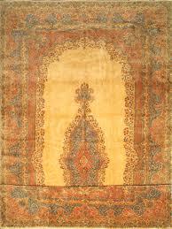 hand knotted kerman blue red white wool rug 12 u00272 u2033 x 22 u00271 u2033 area