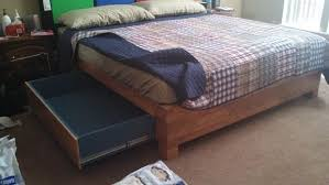 Instructables Platform Bed - king size wood flooring platform bed and headboard with built in