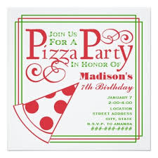 120 best pizza birthday party invitations images on pinterest