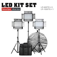 led studio lighting kit falcon eyes lp 1505td lp 600td 2 professional led studio light