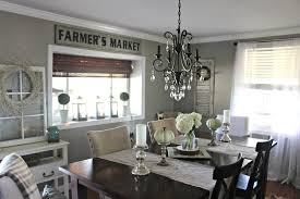 Farmhouse Dining Room Lighting by Fall Dining Room And A New Sign The Glam Farmhouse