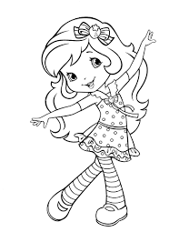 Strawberry Shortcake Halloween Coloring Pages by