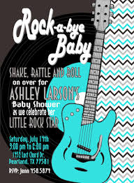 rock and roll baby shower invitation teal silver mimi u0027s dollhouse