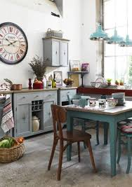 shabby chic kitchen ideas kitchen design pictures square blue stained wooden dresser hanging