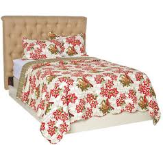 3pc oversized holiday comforter set with shams by valerie page 1