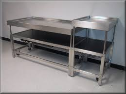 Kitchen Table With Wheels by Furniture Easy Clean Stainless Working Table Preparation Table