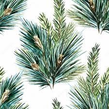 vector watercolor christmas tree pattern u2014 stock vector