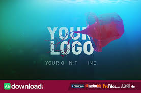 deep sea jellyfish logo reveal videohive project free download