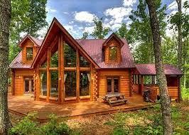 wood cabin wood cabin large windows home home