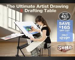 Artist Drafting Tables Drawing And Drafting Table And Chair Set By Soho Jerry U0027s Artarama