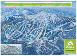 New Mexico Ski Resorts Map by Trail Map Apex Resort