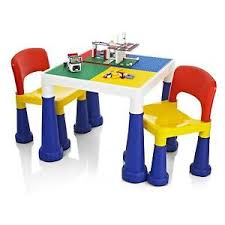 duplo table with chairs childrens kids duplo building activity play colouring table
