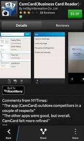 9 99 Business Cards Camcard Business Card Reader Blackberry Forums At Crackberry Com