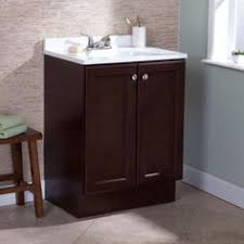 Glacier Bay Cabinet Doors by Glacier Bay Hayden 24 1 2 In Vanity In Cognac With Cultured