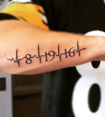 heartbeat stop tattoo image result for date heartbeat tattoo tattoos pinterest