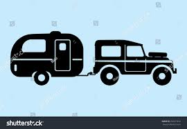 jeep front silhouette silhouette camping car stock vector 292671812 shutterstock