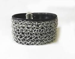 black leather cuff bracelet images Black leather cuff etsy jpg