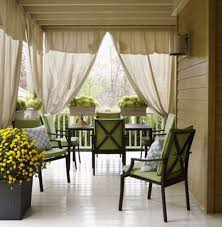 Sun Porch Curtains Alluring Front Porch Curtains Designs With Drop Cloth Curtains For