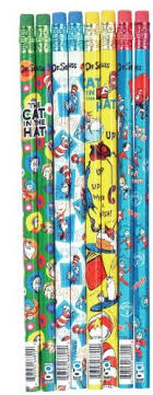 dr seuss assorted gift wrapping paper dr seuss cat in the hat kids pencil set 144