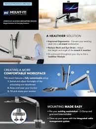 amazon com mount it sit stand workstation height adjustable