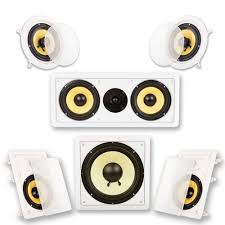 home theater in wall speakers amazon com acoustic audio hd516 5 1 home theater speaker system
