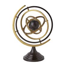 home decor objects isaac armillary sphere bronze bungalow 5