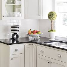 White Tile Backsplash For Kitchen - White tile backsplash