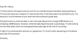 doc 12751650 pay raise letter u2013 pay raise sample letter 91