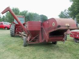 rear of international 80 pull type combine international farmall