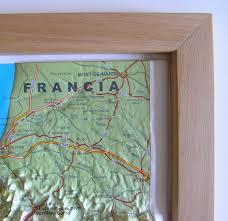 Camino Frances Map by Raised Relief Map Camino De Santiago As 3d Map