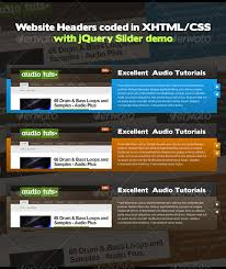 jquery design elements header designs coded xhtml css with jquery by antonio riveras