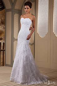 fitted wedding dresses strapless fitted lace wedding dresses snowybridal