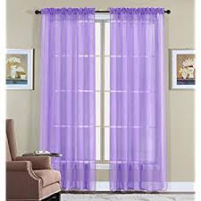Purple Curtains Wpm 60 X 63 Inches Sheer Window Elegance Curtains