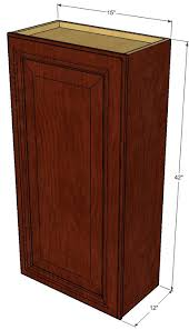 42 Inch Tall Kitchen Wall Cabinets by Small Single Door Brandywine Maple Wall Cabinet 15 Inch Wide X